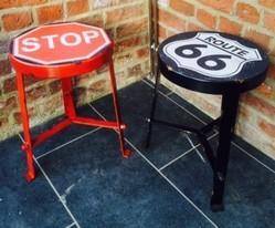 Iron Stool, Iron Painted Furniture