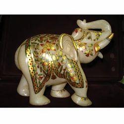 Solo Elephant In White Stone