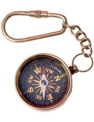 Antique Key Chain Compass