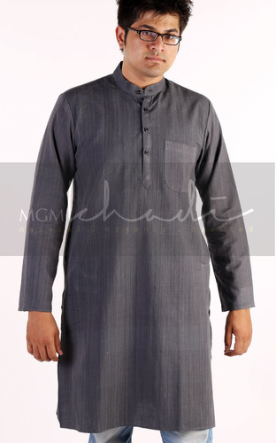 1326924f9e1 Mens Designer Clothings - Mens Khadi Long Kurta Manufacturer from ...