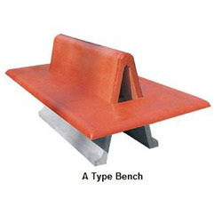 Red Color A Type Concrete Bench