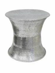 Aluminum Hammered Stool