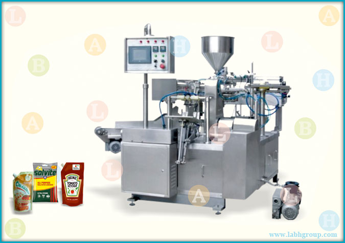 Automatic Horizontal Pick Fill and Seal Pouch Packaging Machine for Paste Products