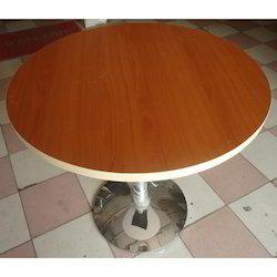 Round Top Single Pillar Dining Table