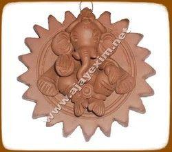 clay hanging ganesha