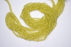 Lemon Quartz faceted Beads