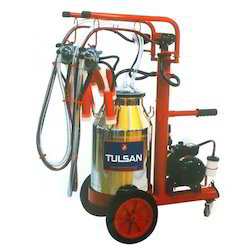 Trolley Model Milking Machine Tempo Lux Type Single Bucket Double Milking