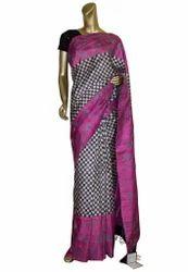Pink Color Handloom Silk Kantha Saree