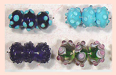Hand Carved Glass Beads SFB-16