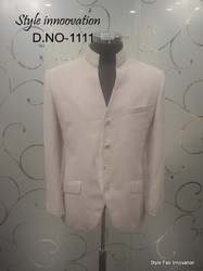 White Partywear Mens Suit