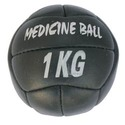 twelve panel black leather medicine ball