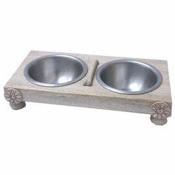 Wooden Pet Bowls
