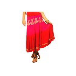 Pink and Red Coloured Skirt
