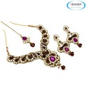 Wedding Wear Diamond Necklace Set
