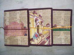 Antque Look Handmade Paper Notebooks