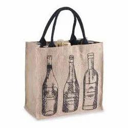 Bottle Printed Wine Bag