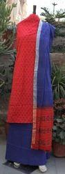 Hand Block Printed Churidar Suit Set Material
