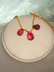 Ruby Faceted Necklace
