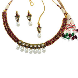 Beaded Kundan Necklace Sets