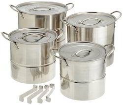 stainless steel steamer stockpot set