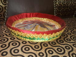 Wooden Decorated Basket