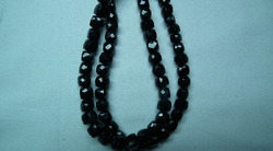 Black Spinel Faceted Cube
