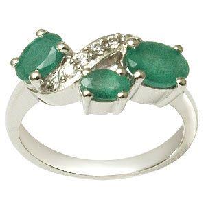 Three Stone Ring Design, Rings for Girls