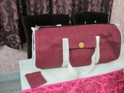 Peach Coloured Jute Bag
