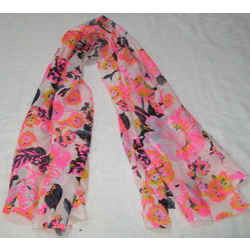 Neon Printed Fancy Scarf