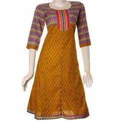 Jaipuri Mud Print Anarkali Cotton Kurta