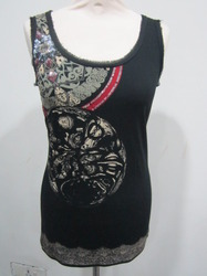 Printed Tops with Sequin Embroidery