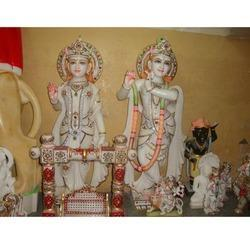 Radha-Krishna Exclusive Makrana Statue