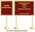 Grooved Welcome Board
