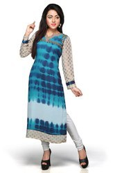 Ladies Trendy Georgette Kurti Party Wear Long Kurti