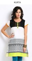 Chic Stylish Cotton Kurti With Screen Print