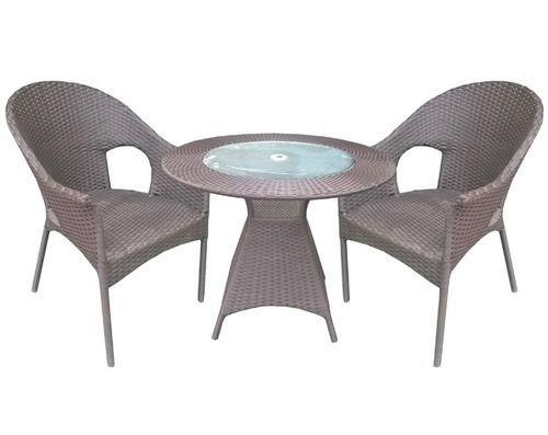 Round Table Wicker Set