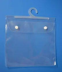 Transparent PVC Hanger Button Pouch