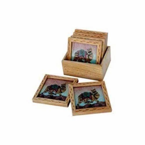 Pine Wood Tea Coaster