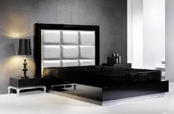 Leather Bed and Wall Panels
