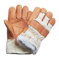 cotton with leather gloves