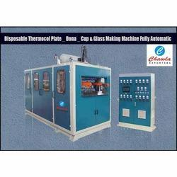 disposable thermocol plate dona cup and glass making machine