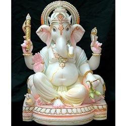 Indian Marble Ganesh Statue