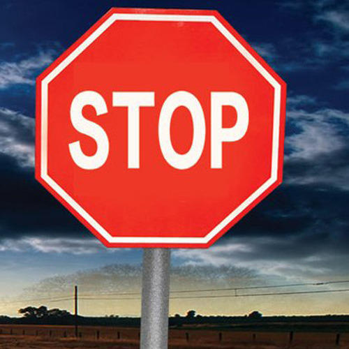 stop sign board
