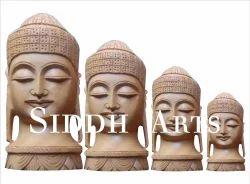 Wooden Buddha Hand Carved Idols