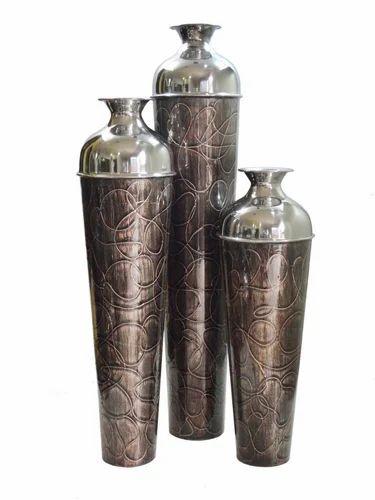 Aluminium Flower Vase Aluminum Flower Vase Manufacturer From Moradabad