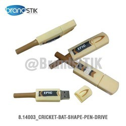 Cricket Bat Shape Pen Drive