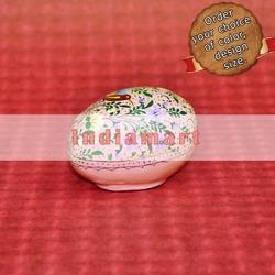 Paper Mache Easter Egg Box - Cookoo Bird In Garden