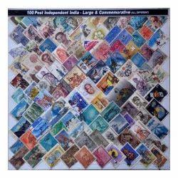 100 Indep India Large Stamp