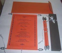 handmade paper wedding card custom designed scroll invites with