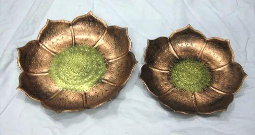 Decorative Bowls Platters Lotus Shaped Aluminum Platters Extraordinary Decorative Platters And Bowls
